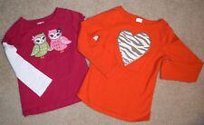 Gymboree Crazy 8 2 Piece Spring Lot 5 XS Girls Long Sleeve Tops Shirts