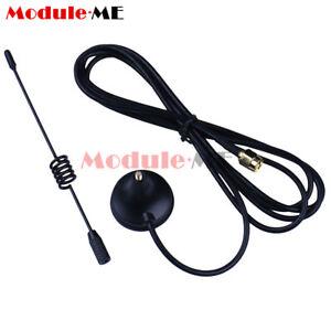Ham radio 433Mhz Antenna 5dbi SMA Male RG174 Cable GSM GPRS Magnetic Base