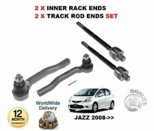 FOR HONDA JAZZ 2008-> 2x OUTER + 2x INNER STEERING RACK TRACK TIE ROD ENDS SET