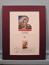 The Carousel or Merry Go Round stamp & First Day Cover Commemorative Panel