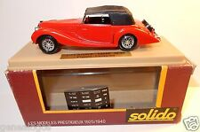 AGE D'OR SOLIDO OLD DELAHAYE 135M 1939 FIGONI FALASCHI ROUGE 1/43 IN BOX e