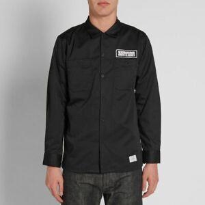 Neighborhood classic work shirt, black, size L