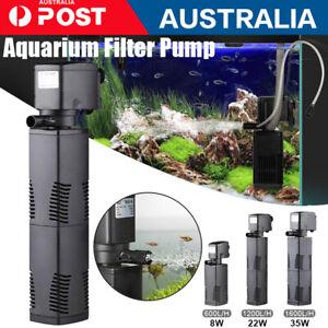 3 in 1 Fish Tank Filter Submersible Water Power Aquarium Filter Pump 600-1600L/H