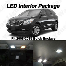 12 x Xenon White SMD LED Interior Lights Kit Package For 2008-2016 Buick Enclave