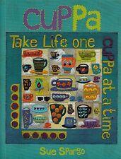Cuppa - applique & embellishment quilt book - Sue Spargo