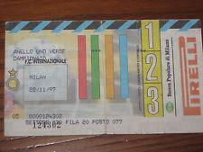 INTER MILAN BIGLIETTO TICKET 1997/98 SERIE A