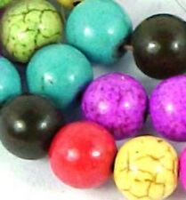 """8mm Colorful Multi-color Turquoise Round Beads 16"""""""