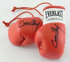 Autografiada Mini Guantes De Boxeo Cassius Clay
