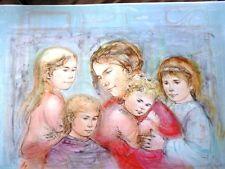 Edna Hibel -Mother & Four Children - VERY RARE-Hand Signed & Numbered LTD ED