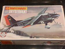 Classic Matchbox Dornier Skyservant 1/72nd 3 colour model kit. PK-107 Complete