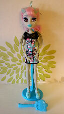 * MONSTER HIGH ROCHELLE GOYLE Ghoul Chat poupée Plus Stand & Brosse *