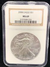 2008 Silver Eagle NGC MS 69
