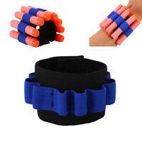 Kid Elastic Tactical Wrist Band Storage holder Soft Bullets Gun For Nerf Elite