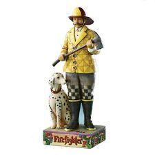 Enesco Jim Shore Fire Fighter figurine w/Dalmation
