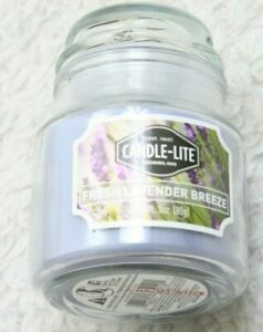 New Candle-Lite Purple Glass Jar Candle Tumbler 3 OZ 1 Wick Purple With Lid 85G