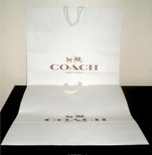 """One Large Authentic Coach Gift Shopping Paper Bag 18"""" L x 18.5"""" H x 7"""" D"""