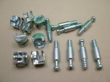 Cam lock & dowel flat pack furniture 8 each x camlocks 15mm cam 24mm dowel screw