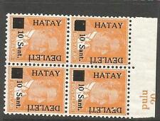 Turkey Hatay Syria SC 1, 1a in Block of 4 MNH (4cme)
