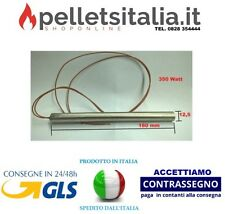 CANDELETTA CLAM RESISTENZA STUFA PELLET DIAMETRO 12.5mm LUNGHEZZA 160mm 350W