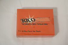 Rico Tenor Sax Saxophone Reeds,  Strength 1.5 #1.5,  Box of 25 (New, Sealed box)
