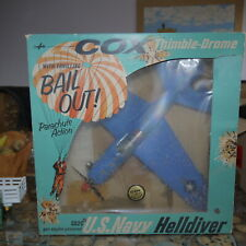 COX SB2C US NAVY HELLDIVER GAS POWER AIRPLANE 1960s BOXED  scarce  bail out