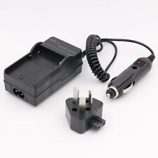 AC Wall + Car Battery Charger for CANON NB-4L NB4L Digital IXUS i Zoom 70 80 IS