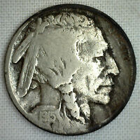1915 S Buffalo Nickel Coin Indian Head Five Cents G US Type Good Coin