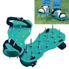 1Pair Lawn Care Garden Grass Sod Aerator Spiked Strap Shoes Garden Tools