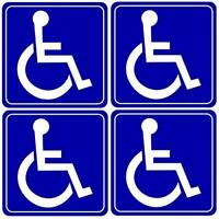 4 Handicap Disabled Wheelchair Symbol Window Door Vehicle Bumper Sticker Decals