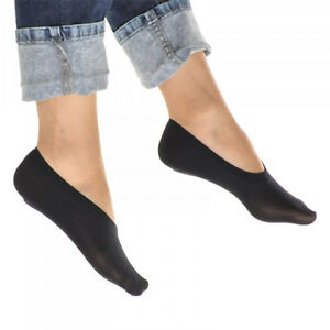 6 Pairs Women's No Show Liner Socks - White, Black, Beige Peds