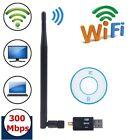 300Mbps USB WiFi Wireless Adapter Dongle Network LAN Card 802.11n/g/b+Antenna Z