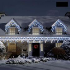 Christmas Icicle Outdoor LED Lights House Decorations Snowing Chaser Party Fairy