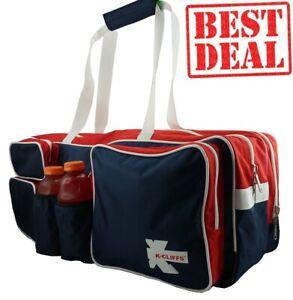 Tennis Racket Bag Badminton Racket Travel Duffel Red White Free shipping