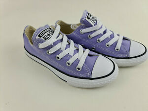 Girls Converse Chuck Taylor All Star Low Top Sneakers Cute Kids Lace Up Canvas