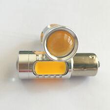 2X 1156 P21W Ba15s Amber Yellow LED Bulb 7.5W Car Turn Backup Tail Reverse Light