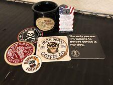 IRON BEAN COFFEE 2018 LIMITED EDITION 80's SLASHER MUG + DEATH WISH SWAG!