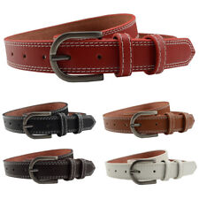 Men Women Pin Buckle Faux Leather Belt Jeans Casual Skinny Waistband Solid Color