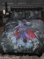 Magistus lit double housse de couette alchemy gothic squelette grim reaper skulls