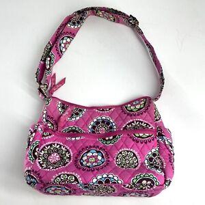 Vera Bradley Bag Cupcake Pink Purse Quilted Floral Handbag CrossBody Retired