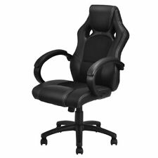 High Back Race Car Style Bucket Seat Office Desk Chair Gaming Chair Black New