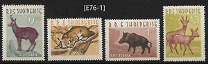 [E76-1] Albania  1962. MiNr. 699-702, Gim.Nr.797-800. MNH