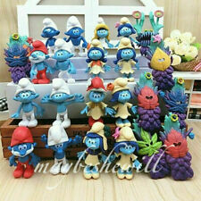 24pcs The Smurfs the Lost Village Papa Smurfette Clumsy Figur Spielzeug Puppe