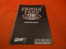 Family Feud Super Nintendo SNES Instruction Manual Booklet ONLY Fued