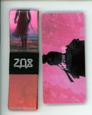 Medium ZOX Silver Strap SHOW UP Wristband with Card Reversible
