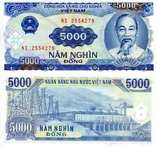 Vietnam 5000 Dong Banknote World Paper Money aUnc/Xf Currency Pick p108a 1991