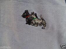 Vtg 90s Polo Ralph Lauren Scottish terrier longsleeve button front shirt mens XL