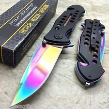 SALE Tac-Force Rainbow Blade Spring Assisted Rescue Hunting Pocket Knife TF-509