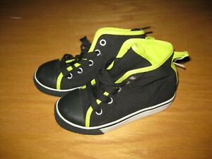 NWT Gymboree Star Brights size 10 Black Green High Top Tennis Shoes