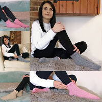Womens Thick Knit Winter Warm Low Cut Short Wool Blend Ankle Boot Socks LWAS