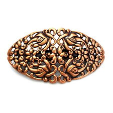 "Large 4"" Copper Filigree Lace Flowers Updo Ponytail Barrette Hair Style Clip"